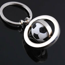 FOOTBALL Rotation metal keyring keychain soccer gift present - New