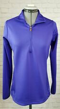 Antigua Women's Active wear Top-Small-Purple-1/2 Zip-Pullover-Long Slv-Cinch