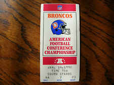 1989 1990 Broncos and the Cleveland Browns @ Mile High ticket stub John Elway