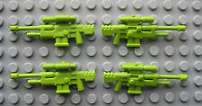 Custom Halo SNIPER RIFLE LOT 4 pcs for LEGO Minifigures Spartan ODST-Lime Green