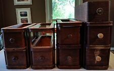 ANTIQUE TREADLE SEWING MACHINE OAK DRAWERS WITH SUPPORTS