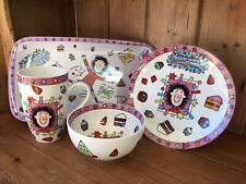 More details for portmeirion jacqueline wilson totally tracy beaker ceramic plate bowl mug & tray