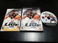 NBA Live 2002 (Sony PlayStation 2, 2001) COMPLETE! TESTED! W/ REGISTRATION!