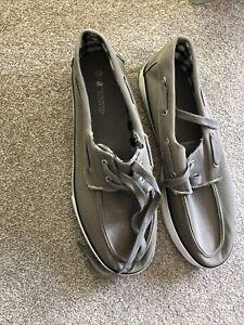 Beige Canvas Casual Shoe Size 12 By Santa Monica Polo Club
