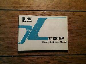 KAWASAKI ZX1100  A1 OWNERS  MANUAL/ HANDBOOK / BOOKLET