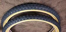 "Old Bmx Black Kenda 20 X 1.75"" Tires Vintage freestyle Bike Haro gt dyno hutch"