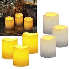 3 pièces Set LED cire véritable bougies avec des paillettes / sans flamme WAX