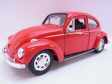27630   Welly VW MAGGIOLINO BEETLE chiuso Rosso modello di auto M. attacco 1:40 NUOVO