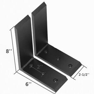 """2 Heavy Duty Black Steel 6""""x8""""Countertop Support Brackets Mantel Shelf L Corbel"""