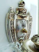 GOTHIC salvaged 1920s TUDOR SCONCES silver-plate REVIVAL lustres ART DECO castle