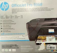 HP Office Jet Pro Printer Fax Scanner Device, Model 6968, Includes Ink!