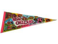 "New Orleans LA Louisiana Pink Vintage Souvenir 29"" Felt Pennant"