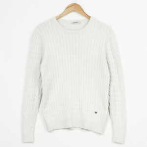 J. Lindeberg Jumper Sweater Crew Neck Cable Knit Mens Size S