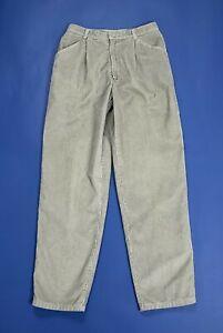 Benetton pantalone uomo usato velluto a coste W30 tg 44 grigio boyfriend T5097