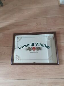 Greenall Whitley Brewery Mirror Sign, Pub, Bar, Man Cave, Breweriana