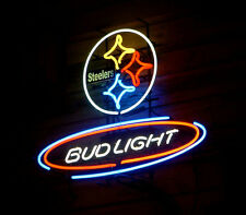"New Bud Light Pittsburgh Steelers NFL Neon Sign 24""x20"" Ship From USA"