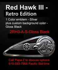 Indian, Drifter, Harley Gas Tank Emblems Red Hawk III RE Zambini Bros MFA
