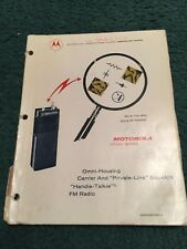 Original Manual Motorola HT220 Series Handie Talkie RM Radio