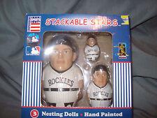 MLB colorado rockies stackable stars nesting dolls NEW!!!