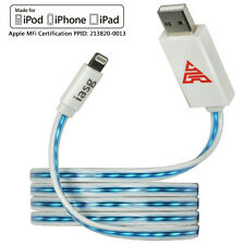 MFi Flat Flowing LED Lighted up Lightning USB Charger Cable for iPhone 5s 6s 7