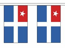 More details for crete greece flag polyester bunting - premium quality