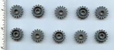 LEGO x 10 Dark Bluish Gray Technic, Gear 16 Tooth with Clutch NEW