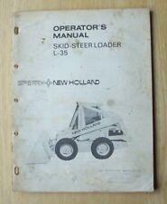 Original New Holland L 35 Skid Steer Loader Operators Manual