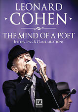 LEONARD COHEN New Sealed UNRELEASED INTERVIEWS & MORE DVD