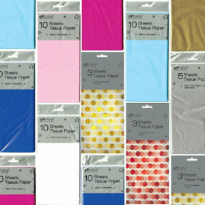 Tissue Paper - Brightly Coloured Sheets Metallic Baby Foil Polka Quality Reuse