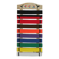 New Taekwondo Belt Display Rack Karate Martial Arts Wall Mount Belt Holder-Wood