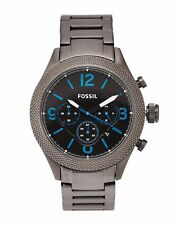 FOSSIL CHRONOGRAPH GUNMETAL MEN'S BQ2109IE BQ2109 WATCH Herren Armbanduhr Neu