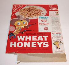 1950's Nabisco Wheat Honeys Cereal Box w Egyptian Ring of the Pharaohs premium