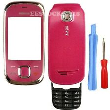 Hot Pink Fascia Full Housing Case Cover Middle Frame Keypad for Nokia 7230 +Tool
