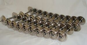 10 PAIRS, 20 AXLES,  OF THE WORLDS BEST G-SCALE NICKEL PLATED  METAL WHEELS NEW