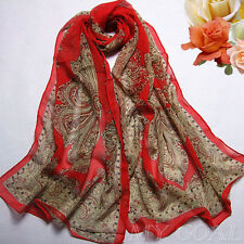 New red Chiffon Kaftan Tunic Scarf Dress Tops Wing Beach Cover Swimwear