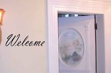 Welcome vinyl decal, entrance vinyl sticker, home wall decor