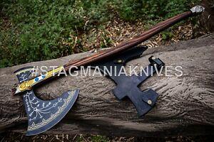 John Henry HAND FORGED STAINLESS STEEL BLADE TOMAHAWK | HATCHET| KRATOS AXE