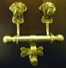 English Mastiff Bronze Duet Door Knocker