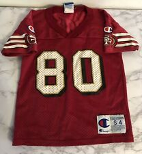 Authentic Jerry Rice 49ers Champion Jersey Kids Size:4 ***RARE***