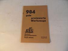 ancien Brochure Westfalia Outil Outils 1934