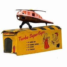Palmer Plastics Inc. Turbo Super Gyro Vintage Toy Helicopter Box Pink (broken)