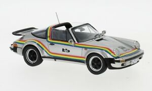 Porsche 911 Turbo Targa BB, silber/Dekor, 1:43, Neo