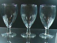 VINTAGE WINE/WATER  GLASSES SET OF 3 MADE IN FRANCE