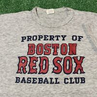 Boston Red Sox T Shirt Mens Medium Adult Gray Vintage 80s MLB Baseball Retro USA