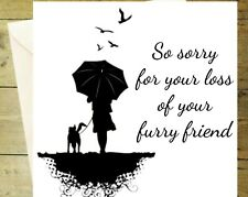 So sorry for your loss of furry friend cat dog pet memorial black and white