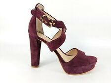 Vince Camuto Burgundy Suede Leather High Heel Shoes Uk 5 new