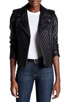 Levi's Genuine Women's Leather Quilted Motorcycle Jacket Size S MSRP $595