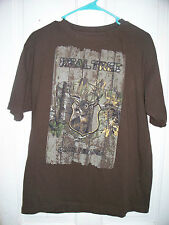 Realtree Brown & Camo Buck Brand T-shirt Size Medium