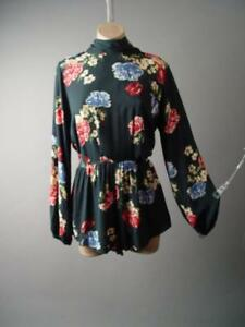 Dark Floral Print Mock High Neck Evening Party Shorts Jumper 284 mv Romper S M L