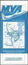 MVA Mississippi Valley Airlines system timetable 12/1/84 [6114]